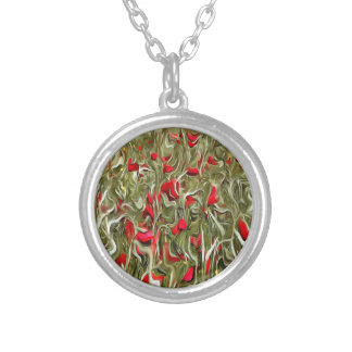 Opium Of The Masses Silver Plated Necklace