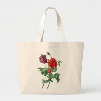 Opium Poppy Drawn From Nature by Van Spaendonck Large Tote Bag