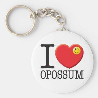 Opossum Basic Round Button Keychain