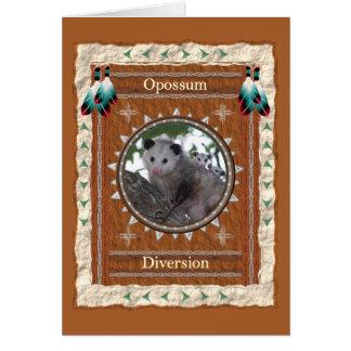 Opossum  -Diversion- Custom Greeting Card