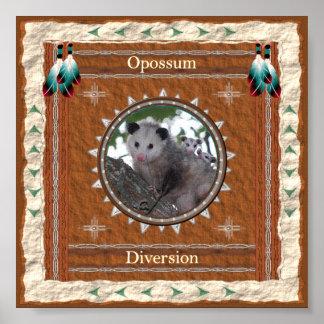Opossum  -Diversion- Poster Print