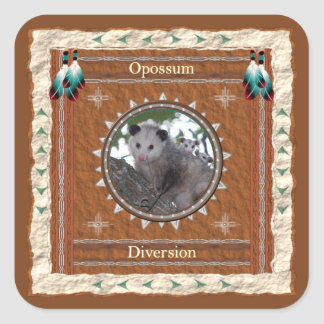 Opossum  -Diversion- Stickers - 20 per sheet