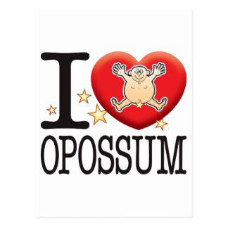 Opossum Love Man Postcard