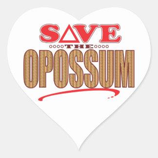 Opossum Save Heart Sticker