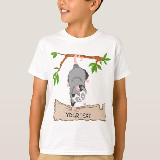 Opossum with sign T-Shirt