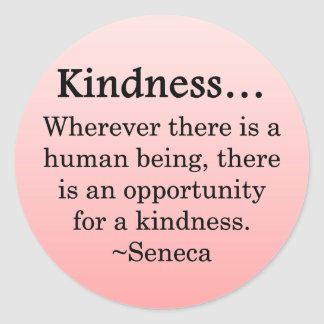 Opportunity for Kindness Round Sticker