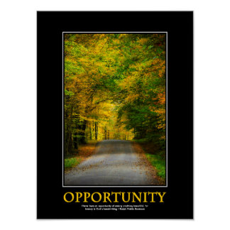Opportunity Inspirational Mini Art Poster