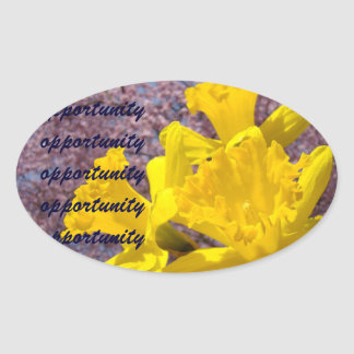 Opportunity stickers Yellow Daffodil Flowers