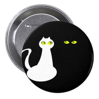 Opposite Attract, Love Cats, Round Badge 3 Inch Round Button