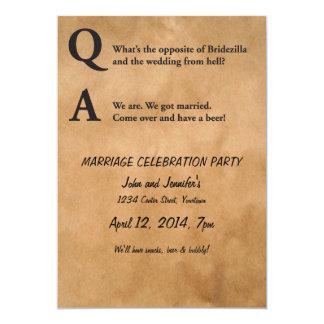 Opposite of Bridezilla Marriage Party Invitation