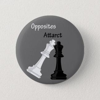 opposites attract 2 inch round button