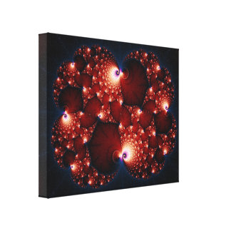 Opposites Attract - Fractal Art Canvas Print