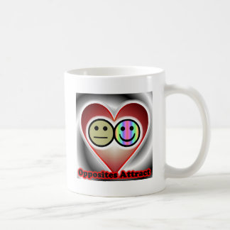 Opposites Attract Classic White Coffee Mug