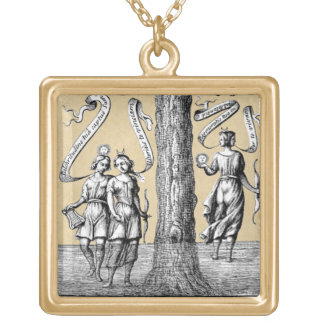 Opposites United by Conjunction in Alchemy Gold Plated Necklace