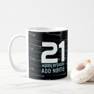 Optic fiber cables coffee mug