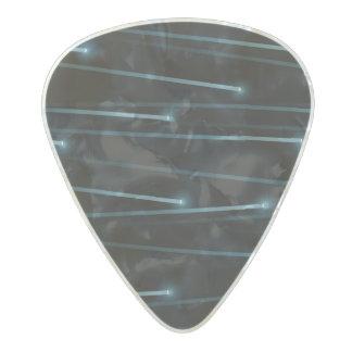 Optic fiber cables pearl celluloid guitar pick