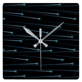 Optic fiber cables square wall clock