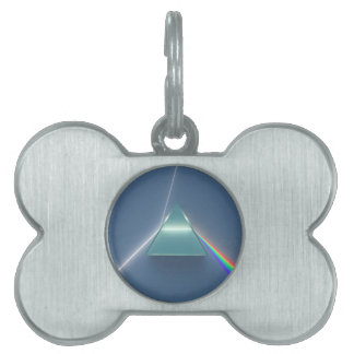 Optic Prism Refracting and Reflecting Light Pet Tags