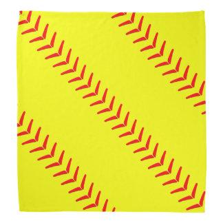 Optic Yellow Fastpitch Softball Seams Bandanna