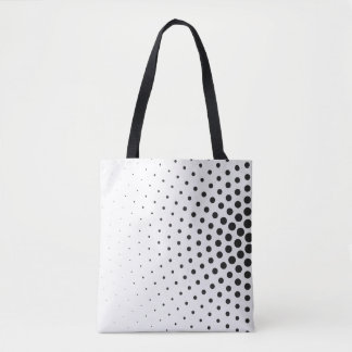 Optical Art Black and White Circles in Circles Tote Bag