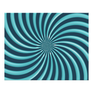 Optical Art Spiral Curves Triangle 07 Poster
