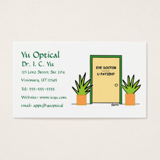 Optical Cartoon Business or Appointment Card