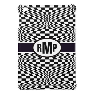 Optical Checkerboard iPad Mini Covers
