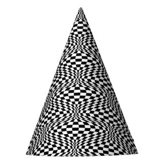 Optical Checkerboard Party Hat