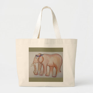 Optical Elephant Tote Bag