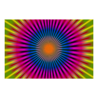 OPTICAL HYPNO DISC RECTANGULAR POSTER