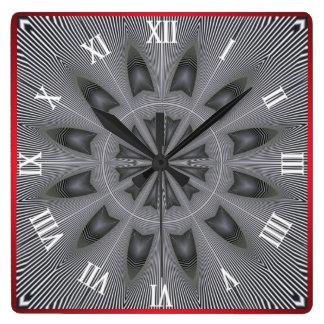 Optical Illusion #02 Square Wall Clock