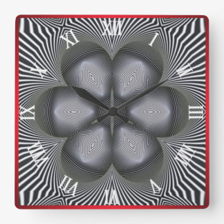 Optical Illusion #05 Square Wall Clock