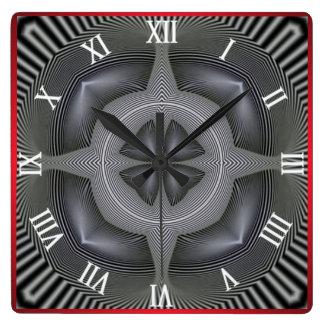 Optical Illusion #07 Square Wall Clock