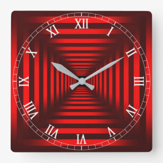 Optical Illusion #15 Square Wall Clock