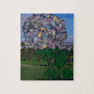 Optical Illusion:  A Flower Grows in Dolores Park Puzzle