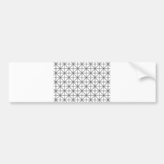 optical illusion background pattern texture geomet bumper sticker