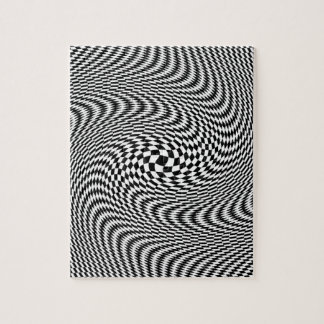 Optical Illusion Black and White Jigsaw Puzzle