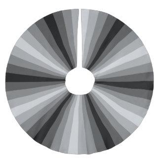 Optical Illusion Black Tree Skirt Brushed Polyester Tree Skirt