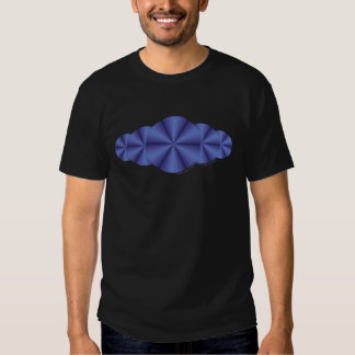 Optical Illusion Blue Men's Dark Shirt