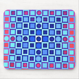 OPTICAL ILLUSION BLUE Mousepad