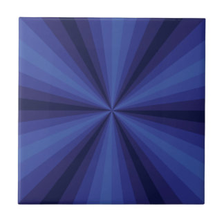 Optical Illusion Blue Tile