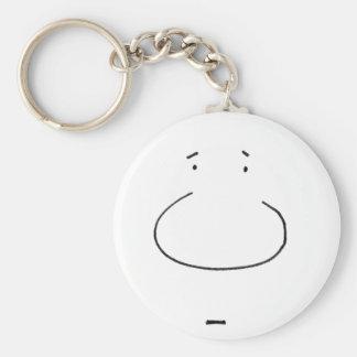 Optical Illusion Cartoon Face Basic Round Button Keychain