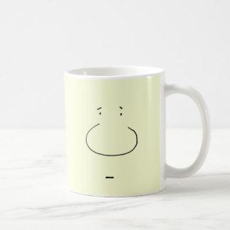 Optical Illusion Cartoon Face Coffee Mug