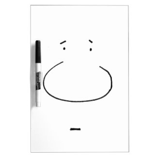Optical Illusion Cartoon Face Dry Erase White Board