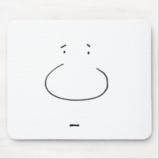 Optical Illusion Cartoon Face Mouse Pad