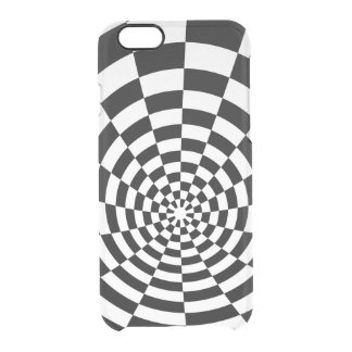 Optical Illusion checkered spatial pattern Clear iPhone 6/6S Case