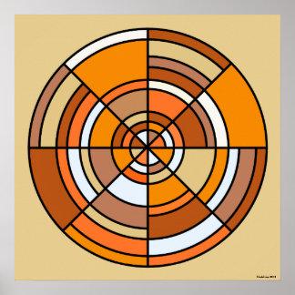 Optical Illusion Circle Poster