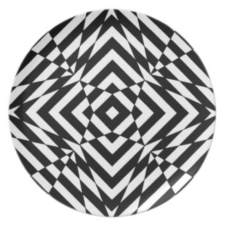 OPTICAL ILLUSION GRAPHIC BLACK AND WHITE PRINT PLATE