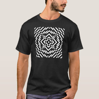 OPTICAL ILLUSION GRAPHIC BLACK AND WHITE PRINT T-Shirt