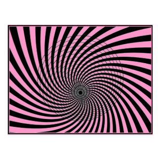 OPTICAL ILLUSION GRAPHIC PRINT  IN PINK POSTCARD